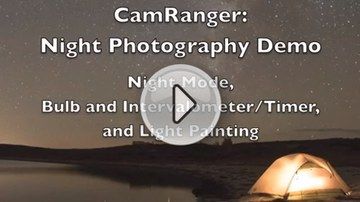 CamRanger: Wireless Motorized Tripod (Pan and Tilt for motion, panoramas, time-lapse)
