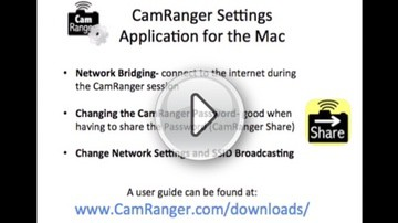 CamRanger Settings Mac Application