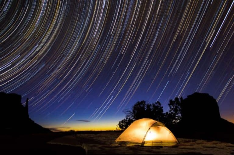 Astrophotography star trails