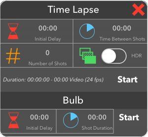 Time lapse app tab