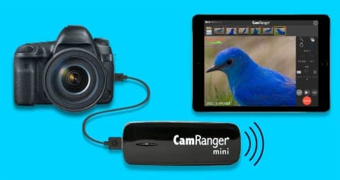 CamRanger mini with camera and iPad