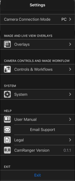 mini app settings