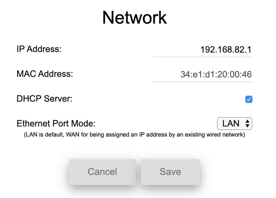 CamRanger Network Tab