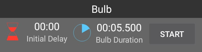 Android App Bulb Timer