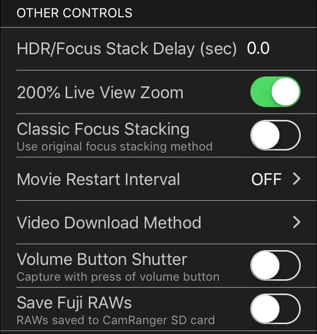 Other Controls Settings