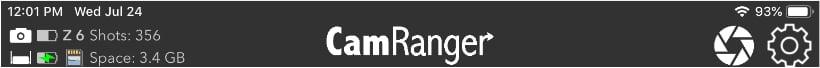 CamRanger Status Bar