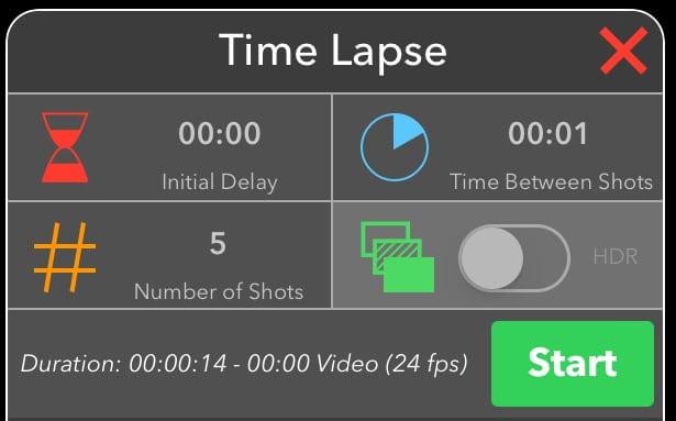 Time Lapse Tab