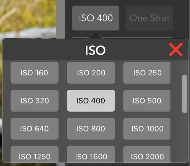 Mac App ISO Setting