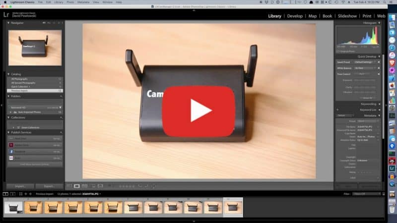Wirelessly tether Lightroom video