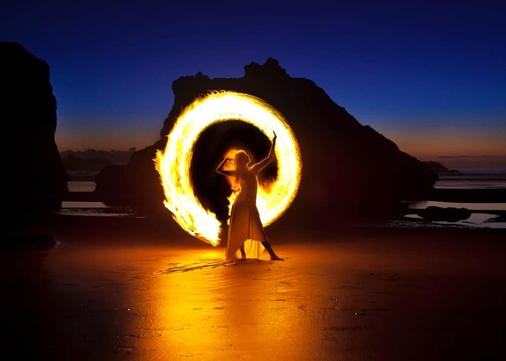 Light Painting Beach