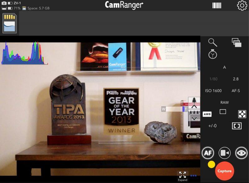 Sony Remotely Zoom Lens iPad