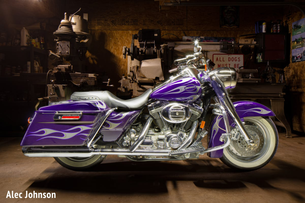 Motorcycle Light Painting