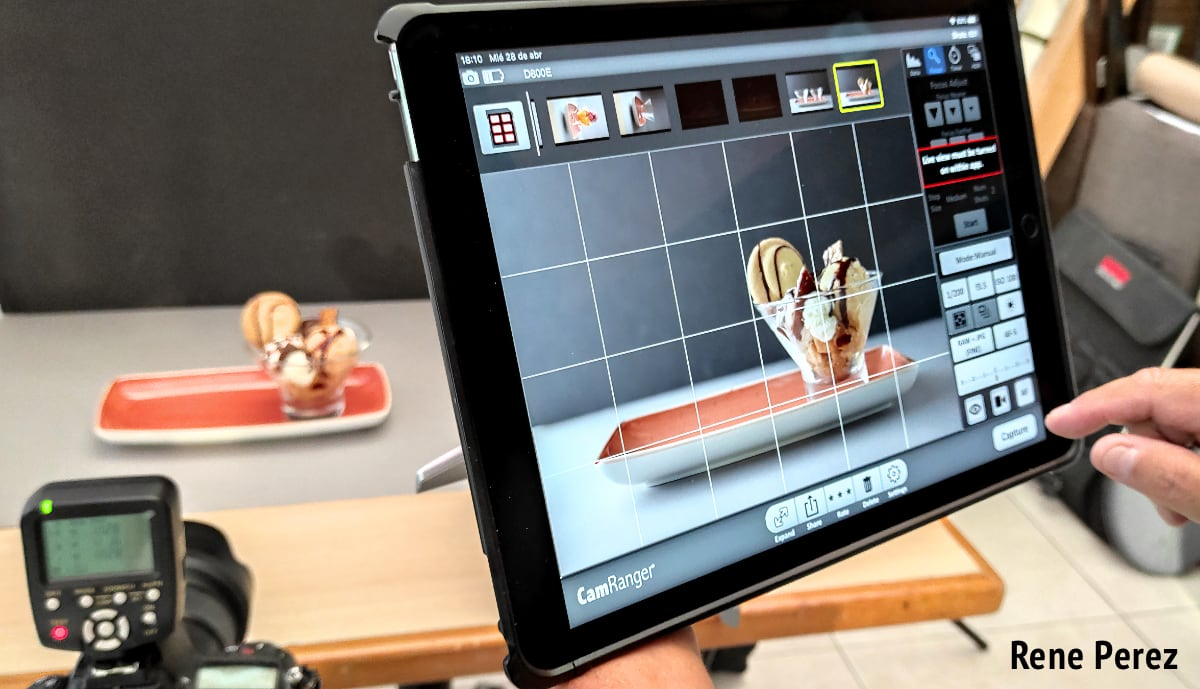 iPad Commercial Food Photography