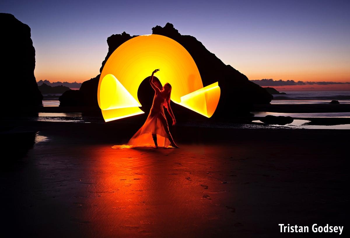 Beach Light Painting