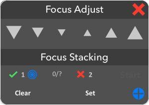 focus stacking iOS tab