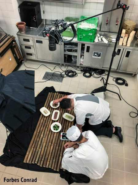 Overhead food photography